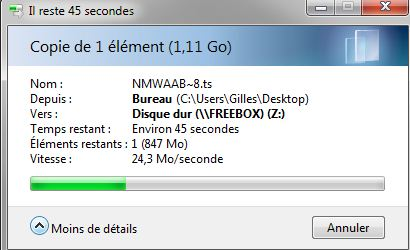 disque dur freebox revolution windows 7